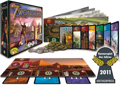 All details for the board game 7 Wonders and similar games