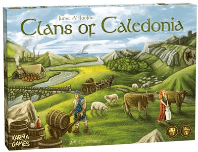 All details for the board game Clans of Caledonia and similar games