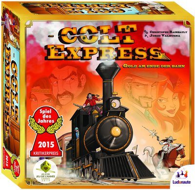All details for the board game Colt Express and similar games