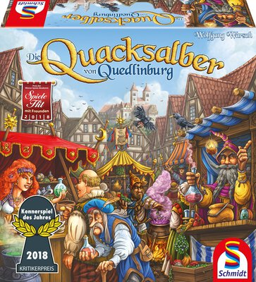 All details for the board game The Quacks of Quedlinburg and similar games