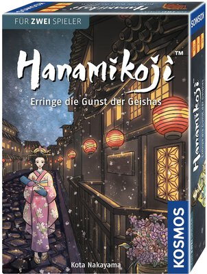 All details for the board game Hanamikoji and similar games