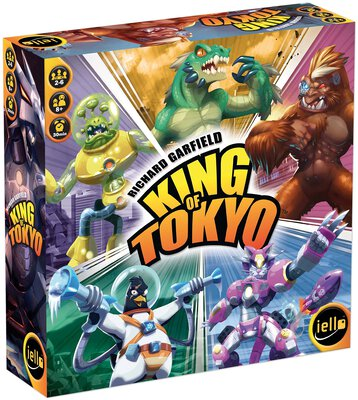 All details for the board game King of Tokyo and similar games