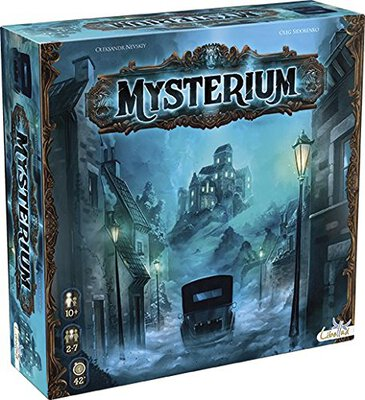 All details for the board game Mysterium and similar games