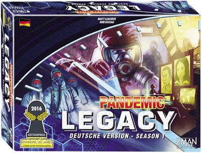 View all details for the board game Pandemic Legacy: Season 1