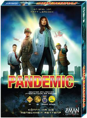 All details for the board game Pandemic and similar games