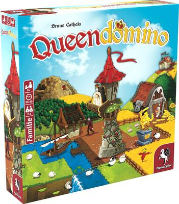 All details for the board game Queendomino and similar games