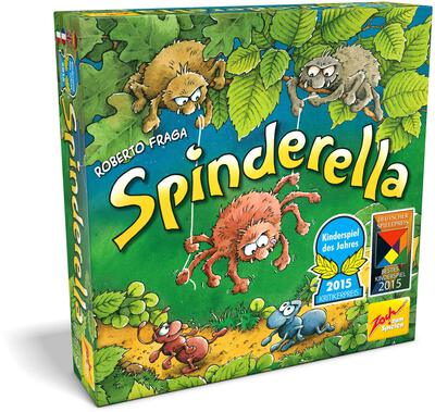 All details for the board game Spinderella and similar games