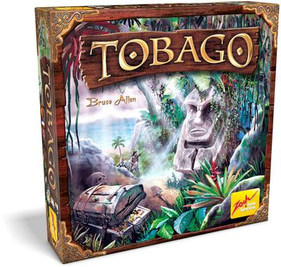 All details for the board game Tobago and similar games