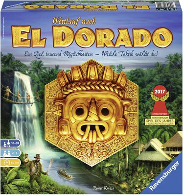 All details for the board game The Quest for El Dorado and similar games
